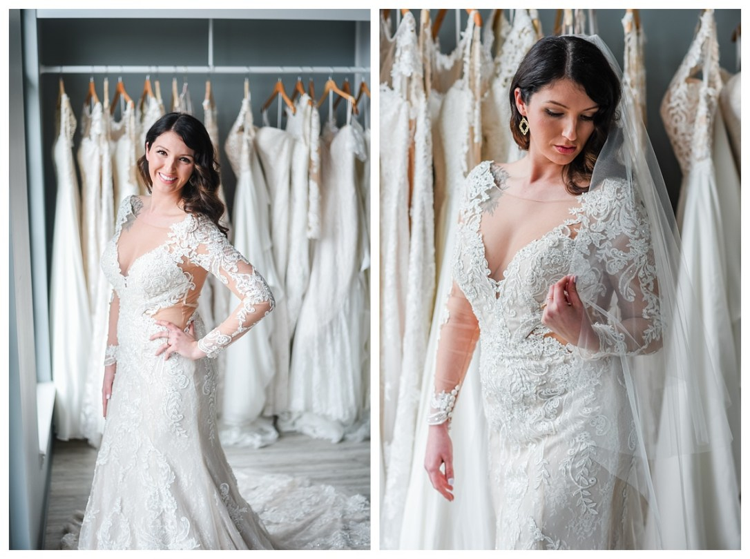 long sleeve lace wedding gown