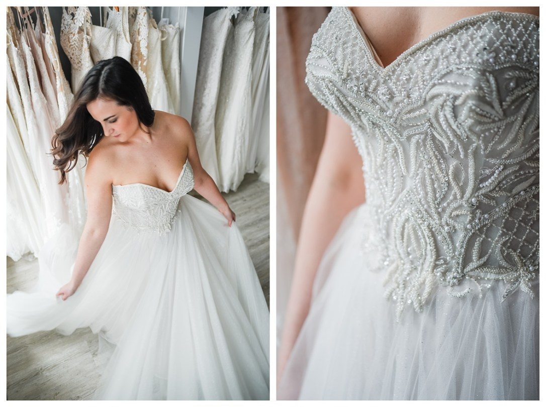 beaded sweetheart neckline wedding dress in chattanooga