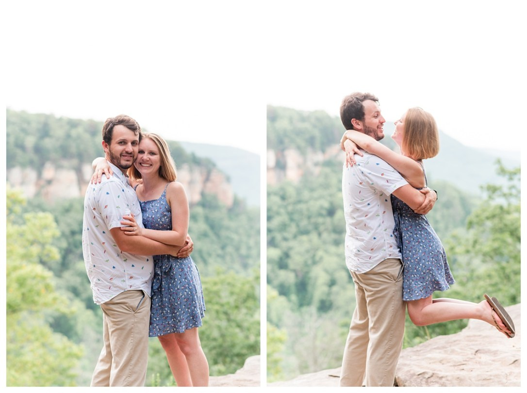 signal mountain engagement photos