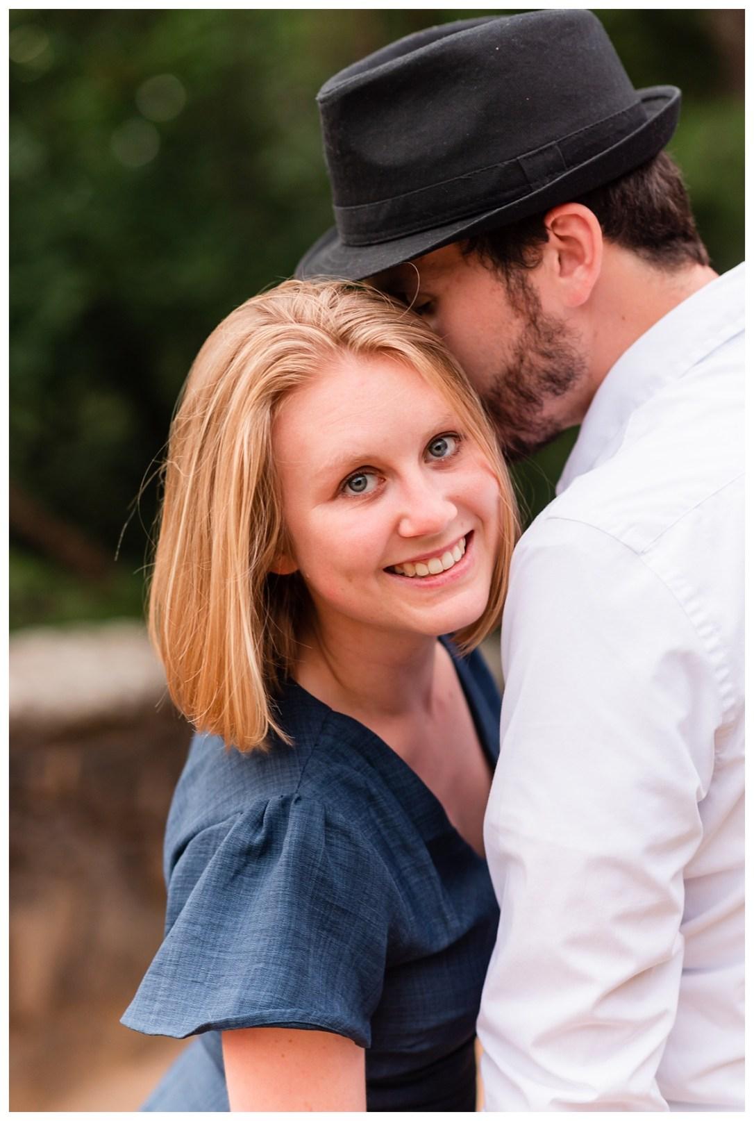 engagement photo ideas with fedora