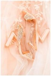 rose gold wedding shoes