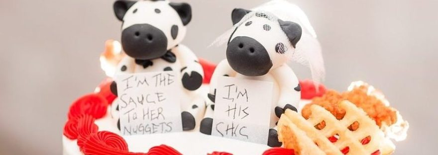 chik-fil-a wedding topper