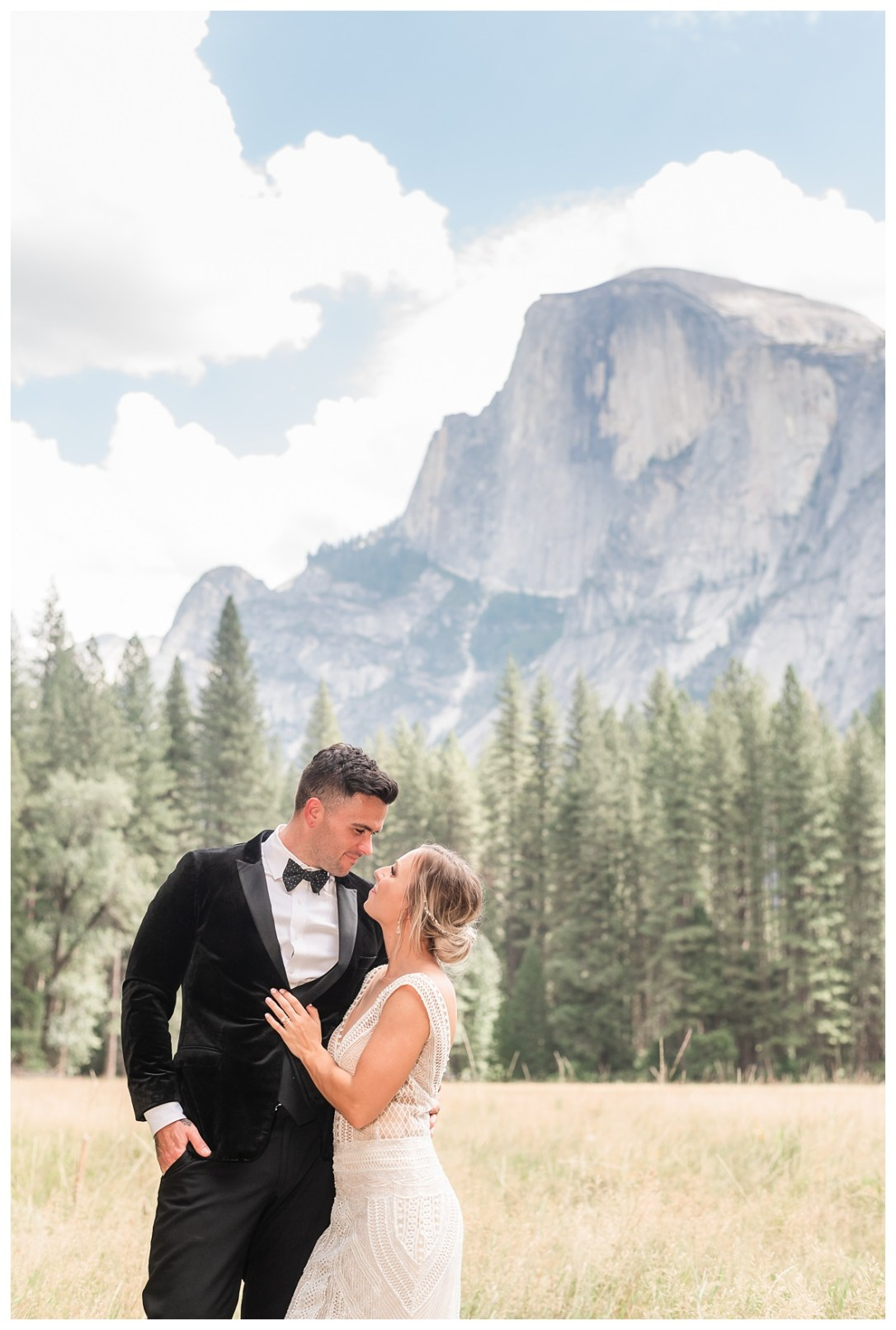 Yosemite Valley elopement in front of half dome