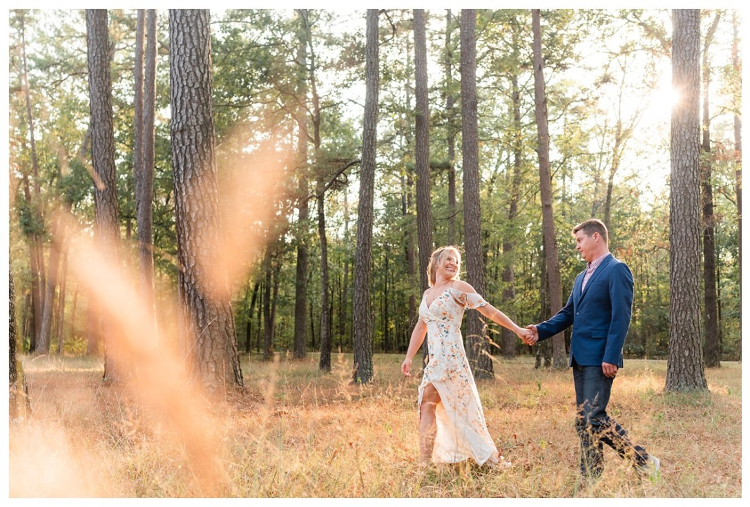 dreamy field engagement session
