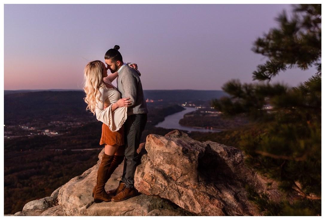 sunset rock engagement photos