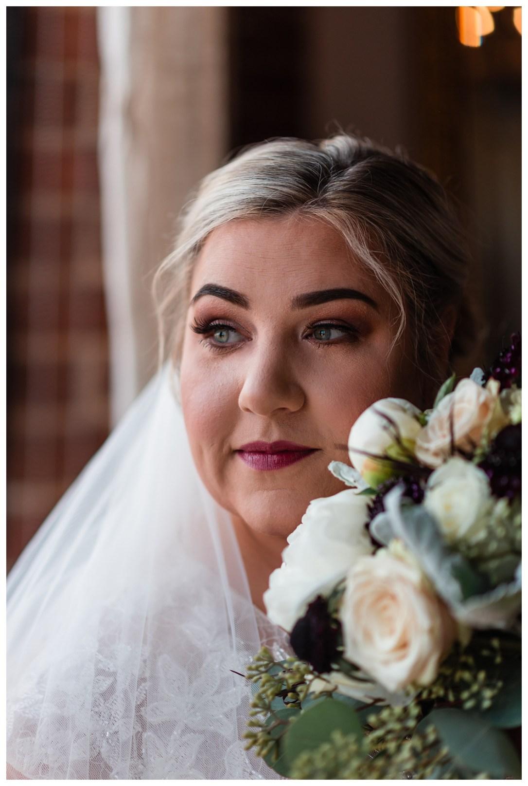 bridal portraits in window light