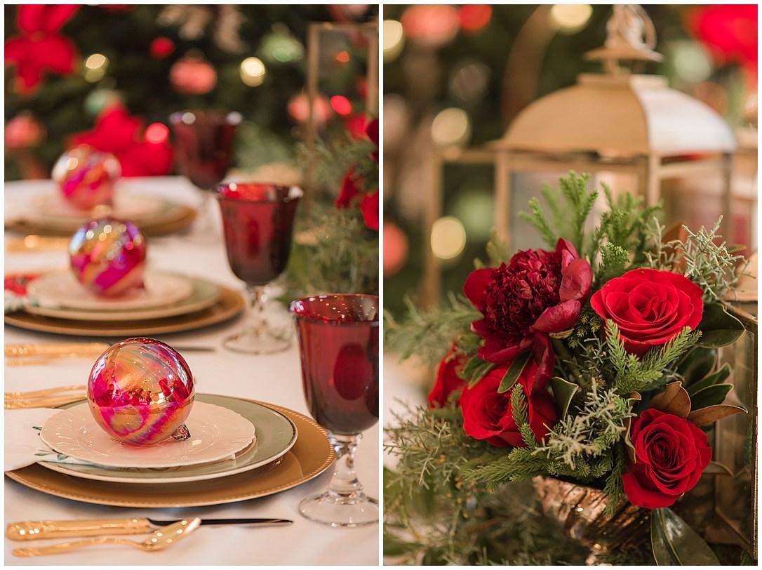 Christmas themed wedding reception ideas