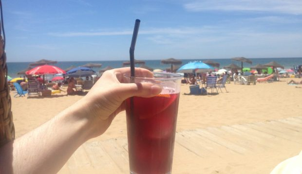Tinto de verano at Punta Umbria