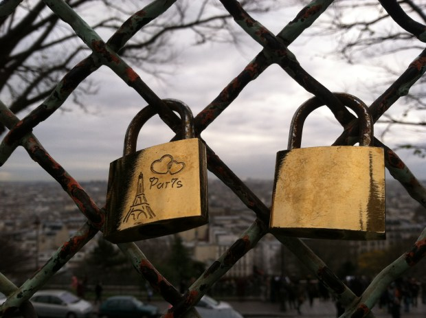 locks of love near Sacre Coeur