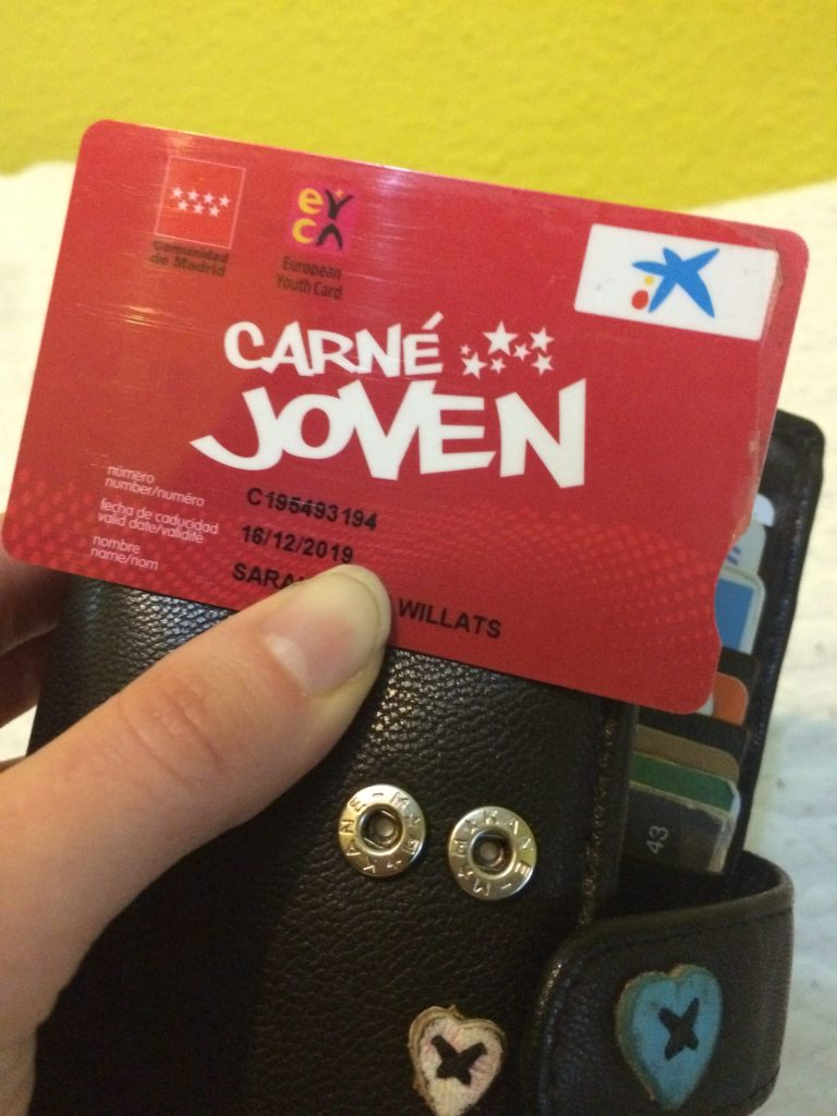 European Youth Discount Card, valid from ages 14-30.