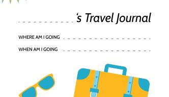 Travel Journal – Free Printable