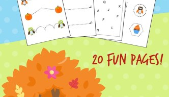 Pumpkin themed learning package free printable!