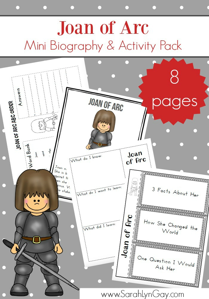 Joan of Arc Free Printable Study Pack