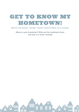 Get To Know My Hometown Free Printable  Student Be Able To Practice Their Essay Skills They Will Dig A Little  Deeper Into Their Local Community And Write About And Get To Know Their  Hometown