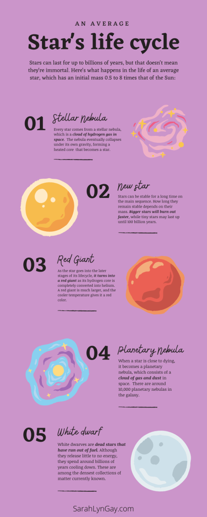 The Lifecycle of a Star infographic