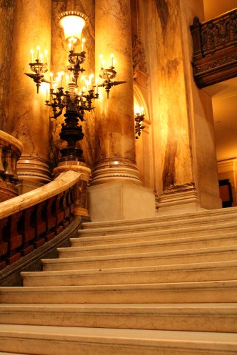 Gentle curves of the banister and balustrade.