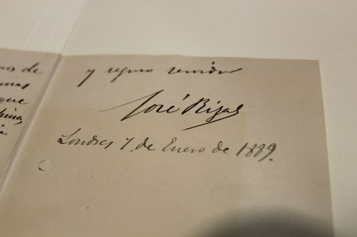 Dr. Jose Rizal letter, 1889 January 7, London. Newberry Library, Chicago.