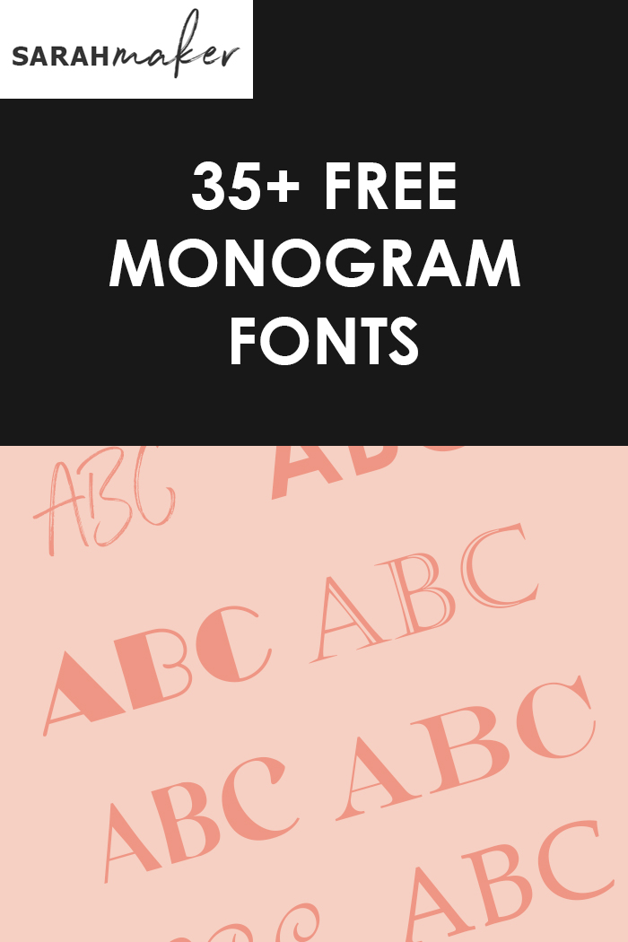 Best Font For Monogram : monogram, Monogram, Fonts, Cricut, More!), Sarah, Maker