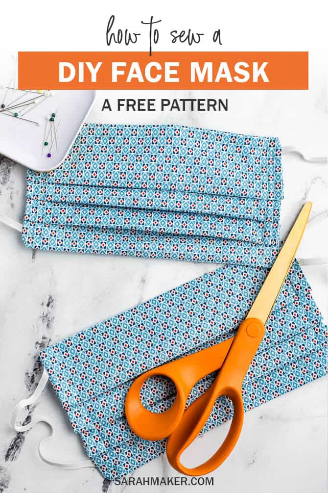 Germ Free Mask Pattern Pdf : pattern, Pleated, Pattern, Elastic, Printable