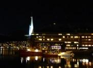 Rica Ishavshaven Hotel at night