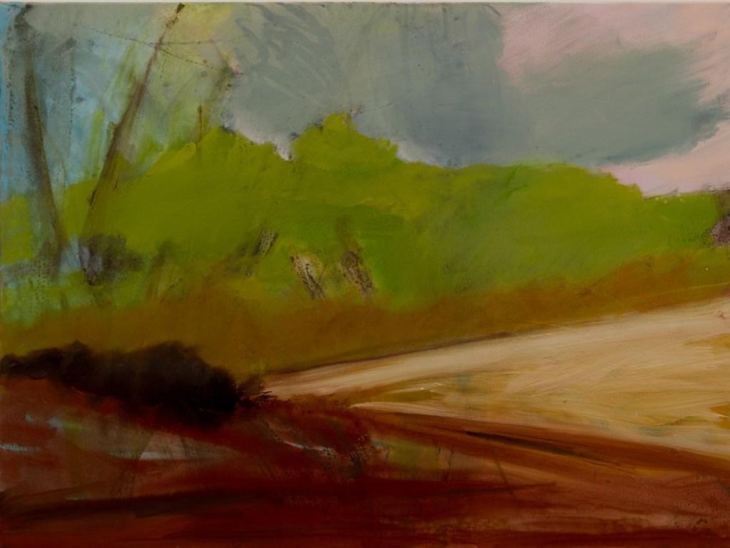 Near Stratford St Mary oils on canvas 79 x104 cms framed £650