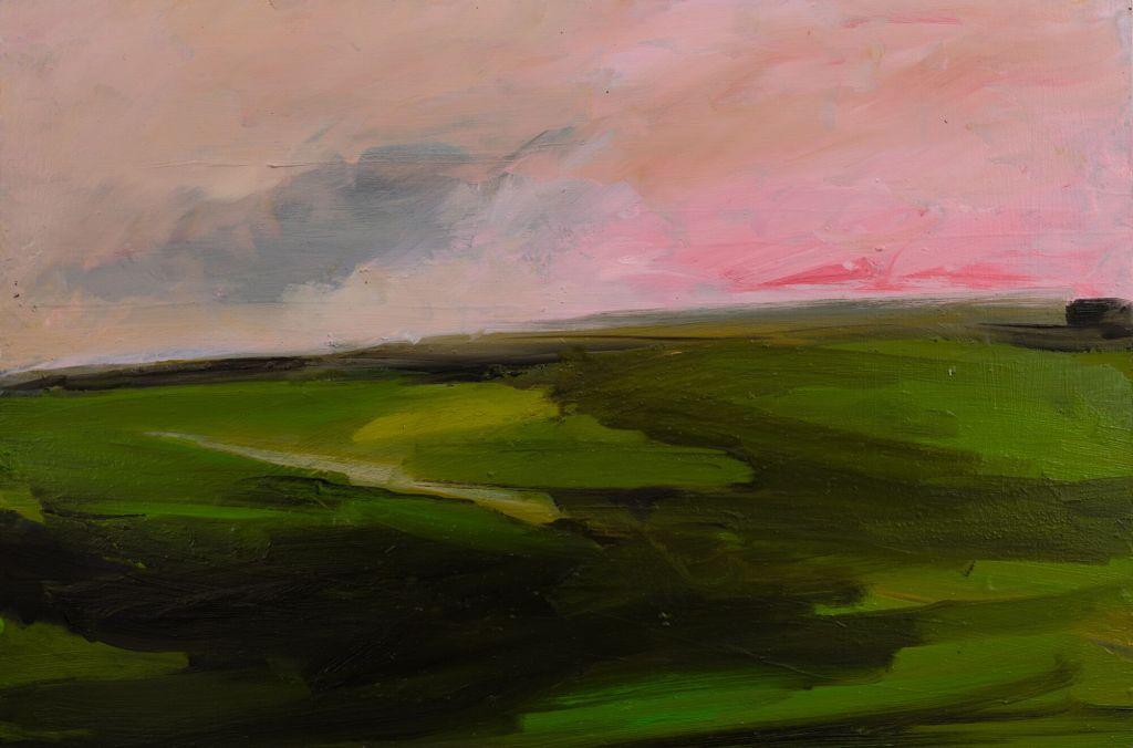Pink Sky 43 x 63cm oils on canvas framed £495