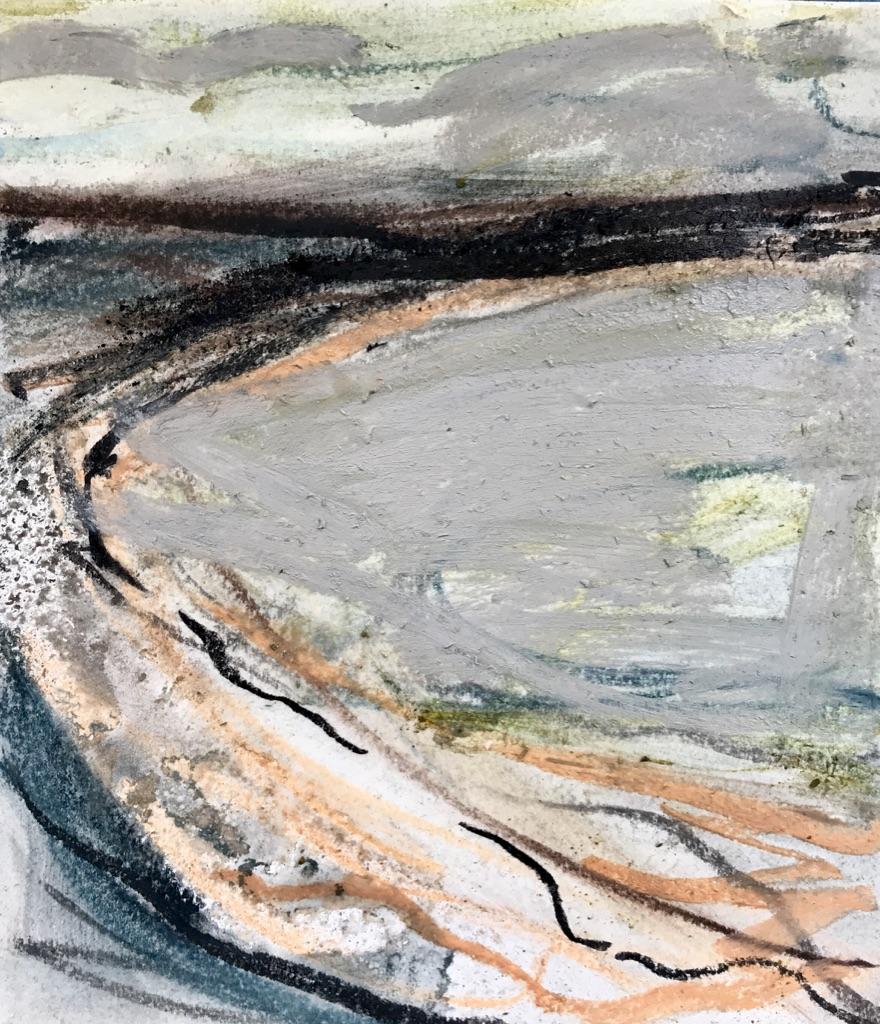 Walking on the Edge pastel on paper framed-34 x 30cm-£225.jpg