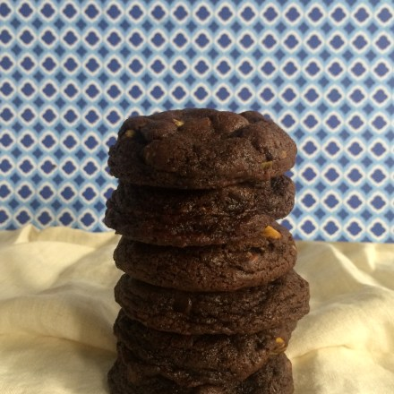 Double Chocolate Chip Cookies with Pistachios