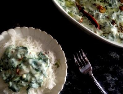 Spinach Raita or Spinach Yogurt