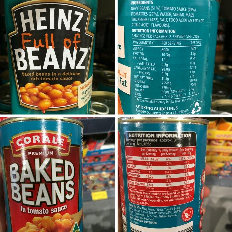 Heniz Baked Beans vs Aldi Baked Beans