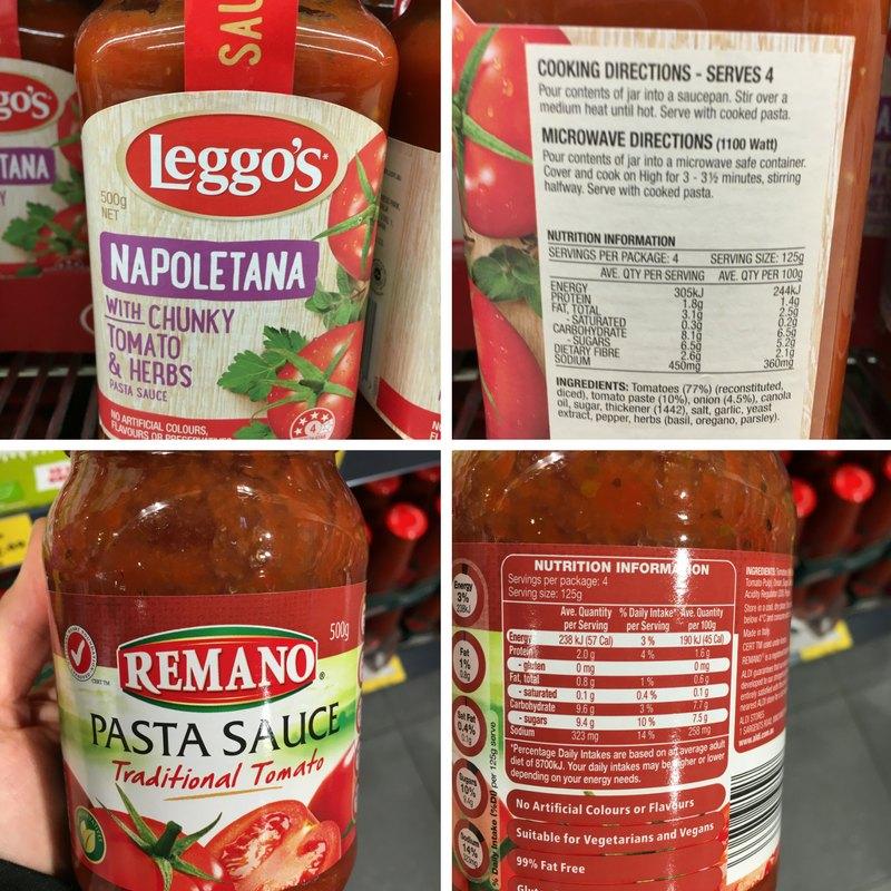 Leggos Pasta Sauce vs Aldi Pasta Sauce