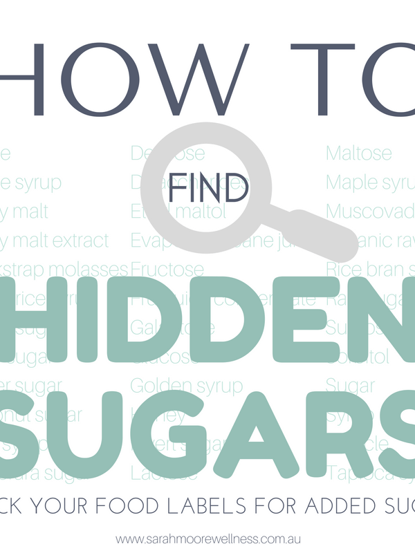 The How to find hidden added sugars