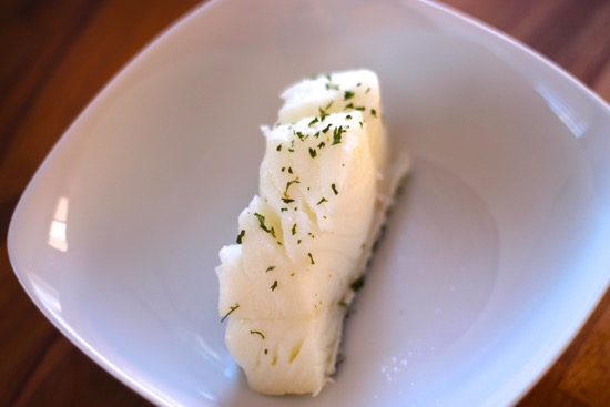 Poached Sea Bass