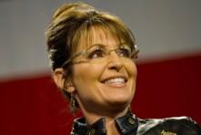 Closeup of Sarah at McCain Rally in Tucson