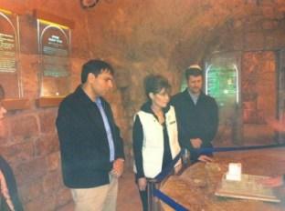 Sarah and Todd and Likud Danny Danon at Church of the Nativity