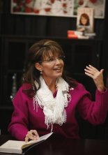 Sarah at Andover KS Book Signing - Motioning Someone Forward