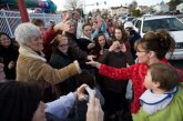 Sarah Shanking Hands Before Book Signing in Richland