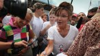Sarah swarmed at Iowa State Fair - cute t-shirt