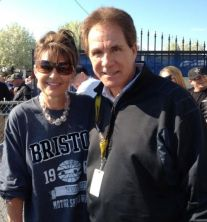 Sarah with Daniel Waltip at NASCAR 2012