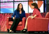 Sarah and Christina Gard at SEU leadership forum