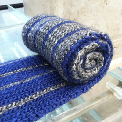 rolled double knit scarf