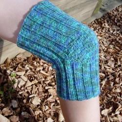Phil's knee warmer shown modelled