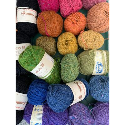 colorful selection of jamieson yarns