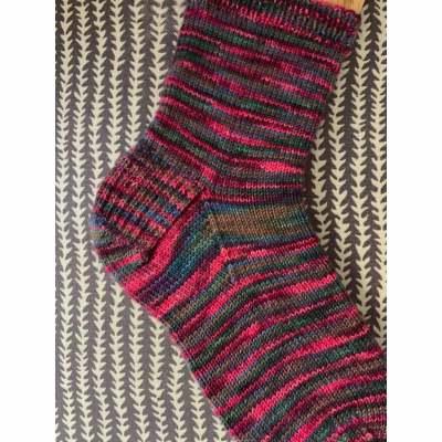 Knit Sock, showing the heel