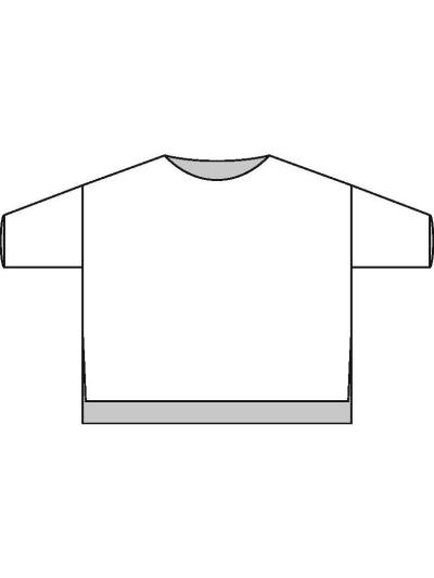schematic diagram for Boxy Drop Shoulder Sweater