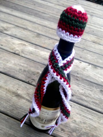 wine bottle hat scarf 2