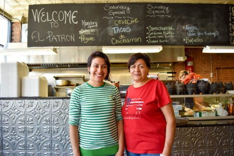 Mirna Cazares and her mother, Maria, of El Patron Restaurant in Worcester.