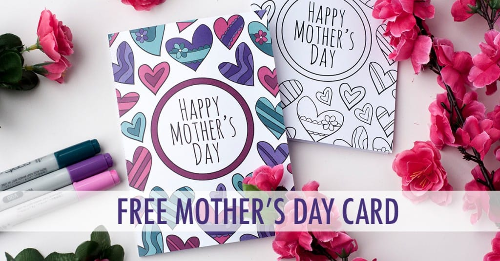 Free Mothers Day Card Printable Template Sarah Renae