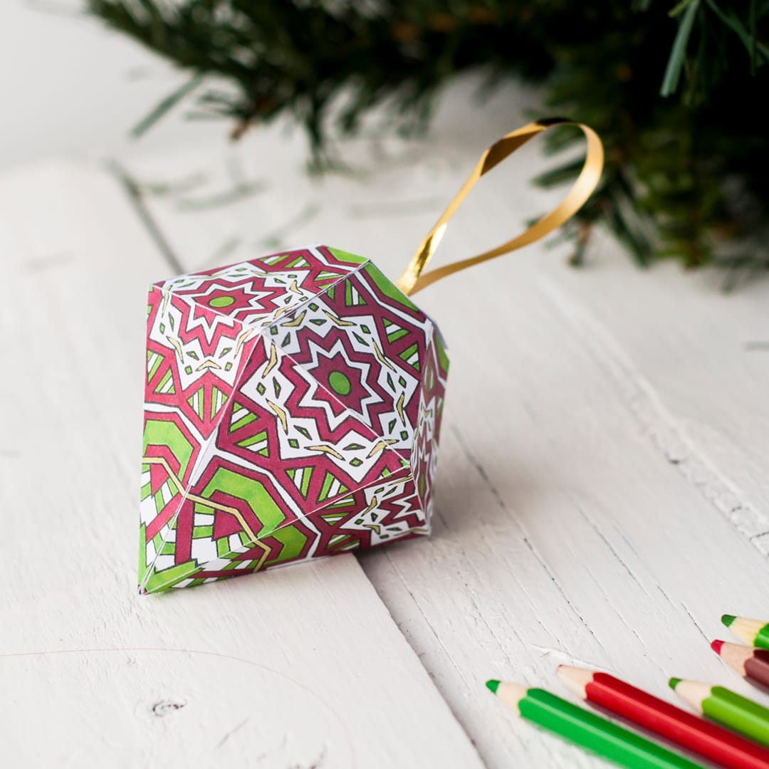 Free Christmas Ornament Template Sarah Renae Clark Coloring Book Artist And Designer