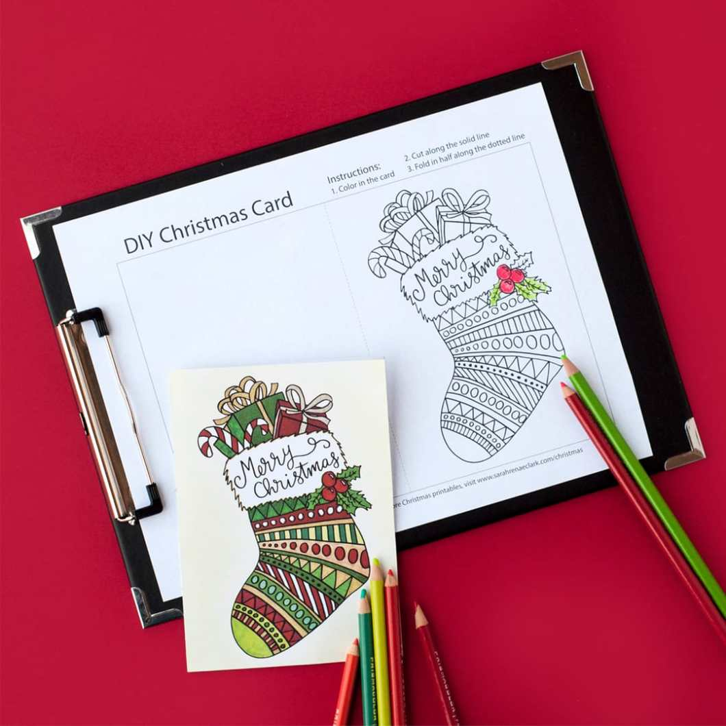 Create Your Own Christmas Card Free Printable | Billingss.co